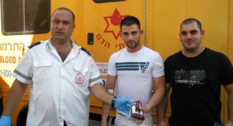 كفركنا: حضور كبير لحملة التبرع بالدم لمستشفى النمساوي
